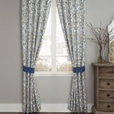 Janine Tailored Curtain Pair Federal Blue