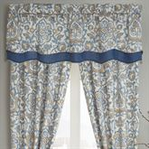 Janine Layered Scalloped Valance Federal Blue 67 x 18