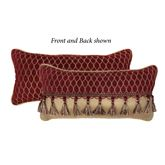 Roena Reversible Corded Pillow Burgundy Rectangle