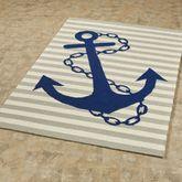 Anchor Rectangle Rug Blue