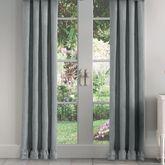Emily Alloy Ruffle Trim Curtain Pair Light Gray 82 x 84