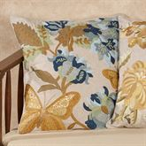 All Aflutter Butterfly Pillow Multi Cool 18 Square