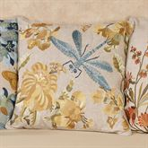 All Aflutter Dragonfly Pillow Multi Cool 18 Square