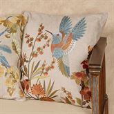 All Aflutter Hummingbird Pillow Multi Cool 18 Square