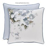 Frances Reversible Embroidered Floral Pillow Cerulean Blue 16 Square