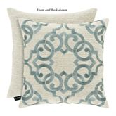 Versailles Embroidered Pillow Ivory 18 Square