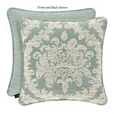 Versailles Piped Pillow Aqua 20 Square