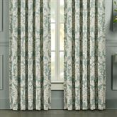 Versailles Wide Tailored Curtain Pair Aqua 100 x 84