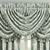 Versailles Waterfall Window Valance Aqua 49 x 33