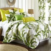 Lush Fronds Tropical Mini Comforter Set Off White