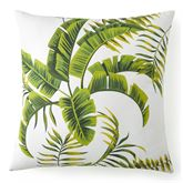 Lush Fronds Palm Leaf Sham Off White European