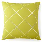 Lush Fronds Lattice Sham Lime European