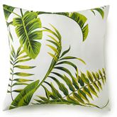 Lush Fronds Palm Leaf Pillow Off White 18 Square