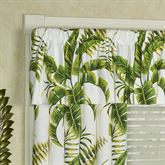 Lush Fronds Tailored Valance Off White 52 x 18