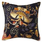 Midnight Bloom Jacobean Floral Pillow Midnight Blue 18 Square