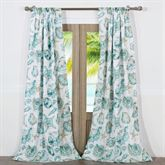 Cruz Lined Tailored Curtain Pair Turquoise 84 x 84