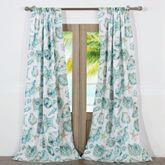 Cruz Tailored Curtain Pair Turquoise 84 x 84