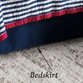 Liberty Tailored Bedskirt Midnight