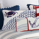 Liberty Embroidered Crab Pillow Midnight Rectangle