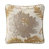 Ansonia Gold Corded Pillow 18 Square