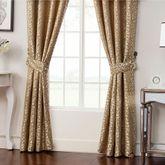 Ansonia Wide Tailored Curtain Pair Tan 100 x 84