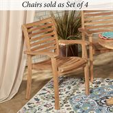 Oceana Chairs Natural Set of Four
