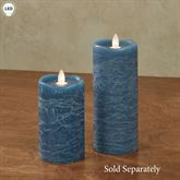 Distressed Flameless LED Pillar Candle Blue