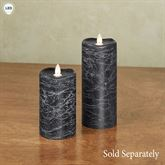 Distressed Flameless LED Pillar Candle Navy