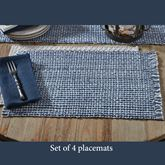 Tweed Basics Placemats Denim Set of Four