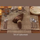 Tweed Basics Placemats Espresso Set of Four
