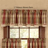 Heartfelt Plaid Scalloped Valance Russet 72 x 16