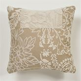Maisonette Tailored Pillow Taupe 18 Square