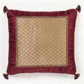 Palatial European Pillow with Sham Ruby