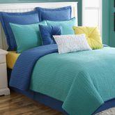 Dash Turquoise Blue Coverlet Set