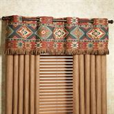 Canyon Ridge Wide Grommet Valance Saddle Brown 76 x 16