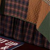 Gibson Lake Gathered Bedskirt Multi Warm