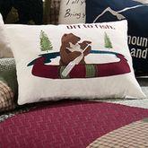 Gibson Lake Bear Tailored Pillow Multi Warm Rectangle