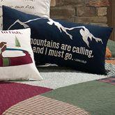Gibson Lake Mountains Tailored Pillow Multi Warm Rectangle