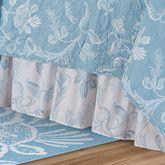 Eliza Lace Gathered Bedskirt Sky Blue