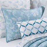 Eliza Lace Quilted Sham Sky Blue Standard