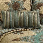Sea Breeze Star Quilted Pillow Multi Warm Rectangle