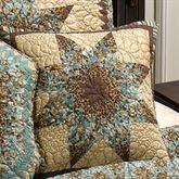 Sea Breeze Star Quilted Pillow Multi Warm 15 Square