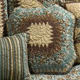 Sea Breeze Star Quilted Pillow Multi Warm 15 Octagon