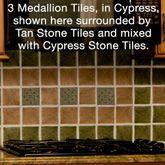 Affinity Medallion Vinyl Wall Tiles Set of 27