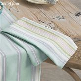 French Perle Stripe Napkins Celadon Set of Four