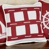 Nautical Rope Decorative Pillow Red 18 Square