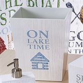 Lake Words Wastebasket Ivory