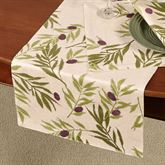 Olives Table Runner Ivory