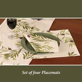 Olives Placemats Ivory Set of Four