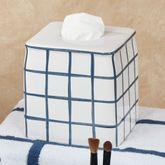 Keagan Tissue Cover Indigo